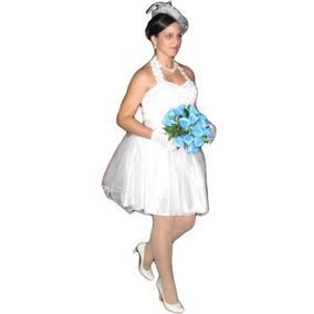 Vestido Festa Ano Novo Noiva, 15anos Casamento Civil Curto