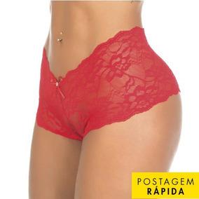 Calcinha Calesson Caleçon Shortinho Renda Pimenta Sexy Top 9c742473972