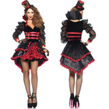 Fantasia Vampira Victoriana Feminina Adulta Luxo Halloween