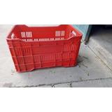 Canasta Plastica Calada Roja (22lbs De Verduras)