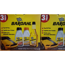 Bardahl 3 Pack, Liquido Frenos Direccion Hidraulica Top Oil