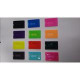 Porta Bilhete Único Cartão - Pacote C 150 Un -cores Variadas