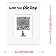 Placa Pic Pay Qrcode Em Acrilico E Mdf Para Pagamento
