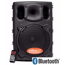 Parlante Amplificador Potenciado 8¨ Bluetooth Usb Sd