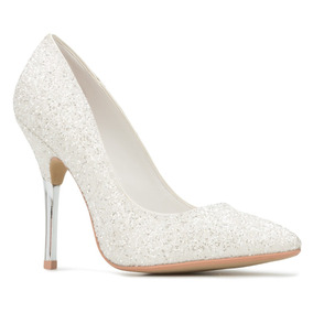 Zapatos Blanco Perla Andrea 2369549 Fiesta Boda Novia 11cm