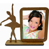Porta Retrato 90 Bailarina Mdf Enfeite De Mesa Lembrancinha