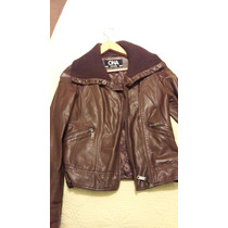 Chaqueta Simil Cuero Marron Chocolate Ona Saez Talle 2