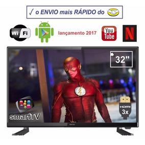 Smart Tv Led 32 Wi Fi Android Netflix Youtube 3 Hdmi 2 Usb