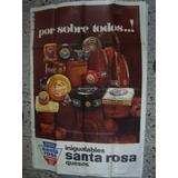 Afiche Original D Calle Quesos Santa Rosa Década Del 70