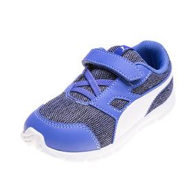 Zapatilla Puma Flexracer Multiknit V Infantil Azul