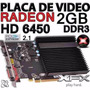 Placa Video Card | Amd Ati Radeon Hd 6450 2g