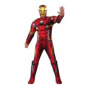 Fantasia Homem De Ferro Luxo Adulto Completa - Frete Grátis