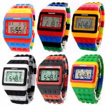 Lote 5 Reloj Tipo Lego Precio Especial, Vendido Mayoreo