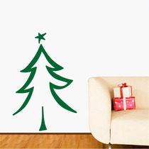 Adesivo De Parede - Árvore De Natal 3 Rosa Carmim