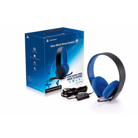 Auricular Headset Playstation Sony Silver 7.1 Ps3/ps4