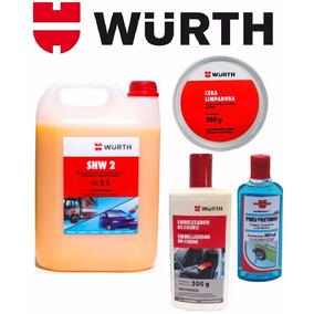 Kit Lava Jato Cristalizador Shampoo Cera Hidratante Pretinho