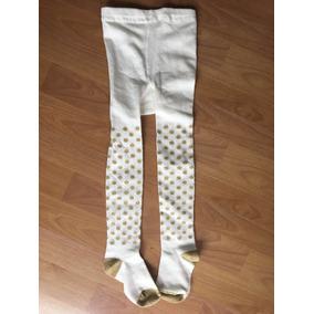 Leggings Blancos Con Dorado De Niña Talla 4/5