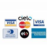 10 Adesivos Bandeiras Cartões De Crédito Visa Mastercard Elo