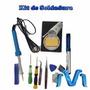 Kit De Soldadura, Base Cautin, Desoldador, Estaño, Pinzas