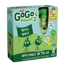 Gogo Squeez Appleapple Puré De Manzana En El Ir De 3.2 Oz Bo