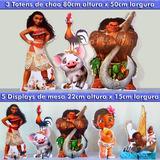 3 Totens Chão 80cm Moana Decoração Mdf Grátis 5 Display Mesa