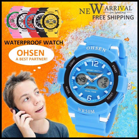 Relógio Ohsen Sport Watch Dual Time Quartz For Men - Kids