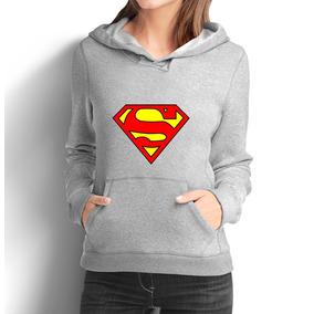 Blusa Moletom Feminino Super Homem Moleton Camiseta 48
