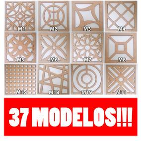 Painel Decorativo Mdf Cru 40cm X 40 Cm Elemento Vazado