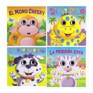 Lote De 4 Libros - Ojos Móviles - Hojas Duras De Cartòn -