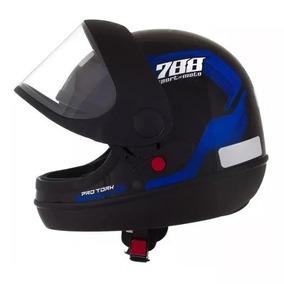 Capacete Sport Moto 788 Automatico Azul Modelo San Marino
