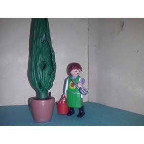 Playmobil Jardinero Agricultor Podador Con Arbol Ciudad B