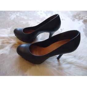 Sapato Couro Plataforma 2m E Salto 10cm Via Uno
