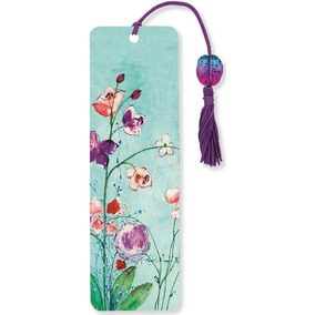 Beaded Bookmarks - Peter Pauper 6,4x18 - Fuchsia Blooms