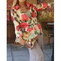 Camisa Camisola Thai Floreadas