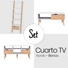 Set Cuarto Tv Nordic - Blanco