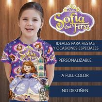Princesa Sofia Franela Cotillon Fiesta Invitacion Regalo