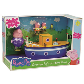 Conjunto Peppa Pig Dtc Barco Do Vovô Pig