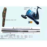 Combo Caña De Pescar 3.3 Mts Carrete Falcon Claw Y Funda