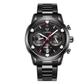 Elegante Reloj Multifuncional Casual Hombres Deportivo Cuarz