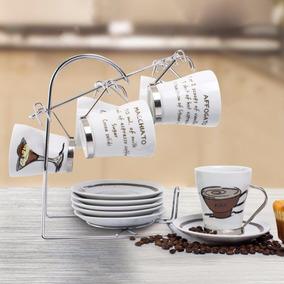 Set Juego De 6 Tazas Y Su Base Recipe Cafe 13 Crown Baccara