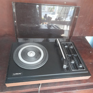 Toca Discos Vitrola Philips Stereo Pra Conserto No Volume.