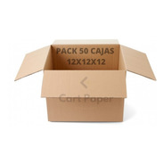 Cajas De Cartón 12x12x12 / Pack 50 Cajas / Cart Paper
