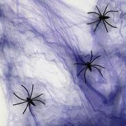 Teia De Aranha Decoração Halloween  Dia Das Bruxas Roxa