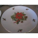 Platos Navidad Ceramica Y Borde Dorado Bavaria