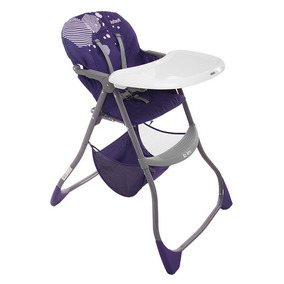 Silla Alta Ez Bite Plegable Hexagon Purple, Infanti