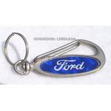 Lindo Chaveiro Inox Ford Az. Ka Fiesta Focus Fusion Maverick