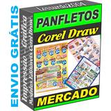 Panfletos Vetor Modelo Mercado Pizzaria Bar Adega Corel Arte