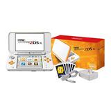 Consola Nintendo New 2ds Xl Blanco Naranja + Cargador