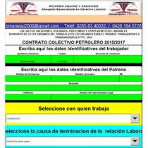 Cálculo Prestaciones Sociales Petrolera Mayo 2017
