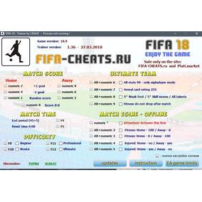 Fifa 18 Trainer 27/03/18 Atualizações Gratuitas - Envio 24h